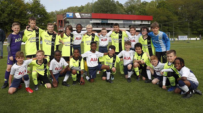 Oefenwedstrijd Tottenham - U10 ERC Hoeilaart