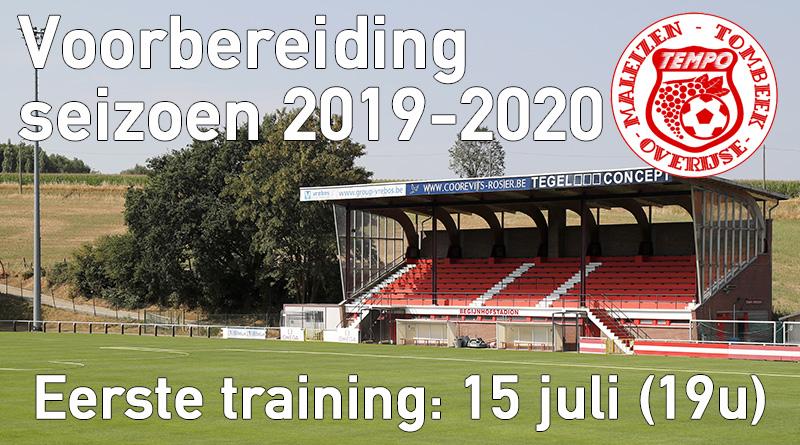 Voorbereiding eerste ploeg start op maandag 15 juli
