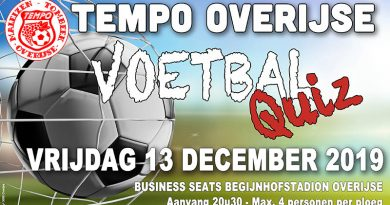 VoetbalQuiz op vrijdag 13 december