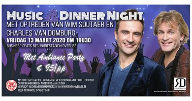 Music & Dinner Night op 13 maart met Wim Soutaer en Charles Van Domburg
