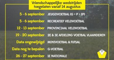 Competitiestart 3de amateurklasse op 19 september