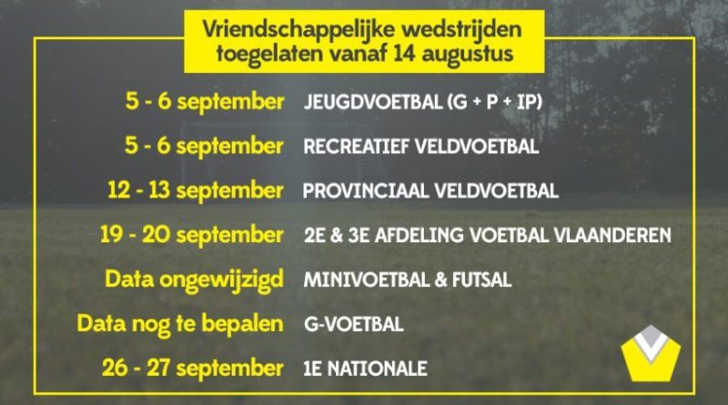 Competitiestart 3de amateurklasse op 19 september