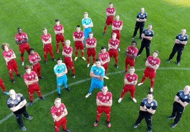De selectie voor de wedstrijd tegen Rhodienne De Hoek