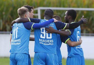 Eerste ploeg wint met forfaitcijfers